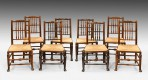 Antique Harlequin Set of Eight Chairs ~ SOLD