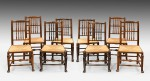 Antique Harlequin Set of Eight Chairs image 1
