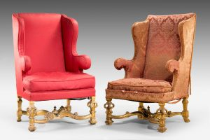 Antique Pair William & Mary Style Armchairs