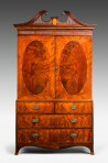Antique George III Linen Press