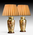 Pair of Brass Oriental style Lamps image 1