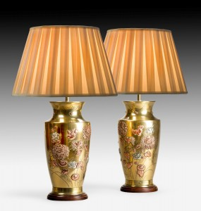Pair of Brass Oriental style Lamps