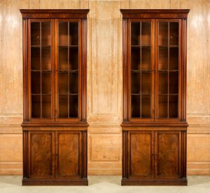 Antique Pair of Library Bookcases