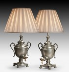 Pair of Tea Urns, now Lamps ~ SOLD
