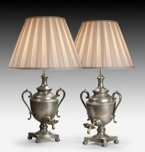 Pair of Tea Urns, now Lamps