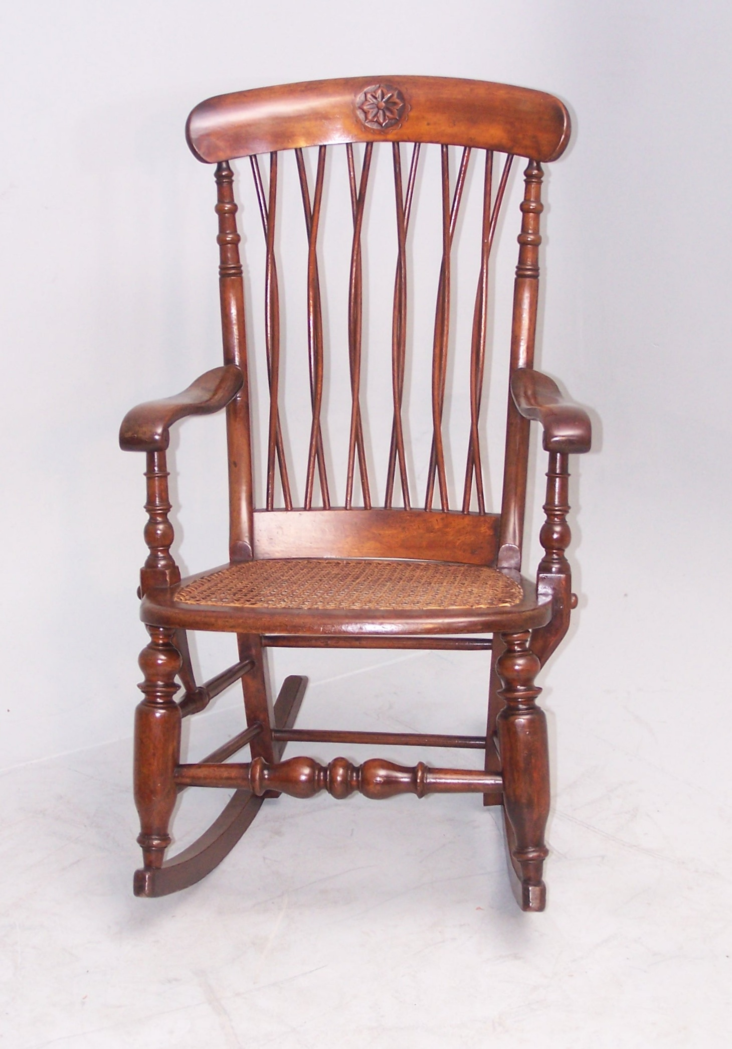 Antique Unusual Rocking Chair - Summers Davis Antiques & Interiors