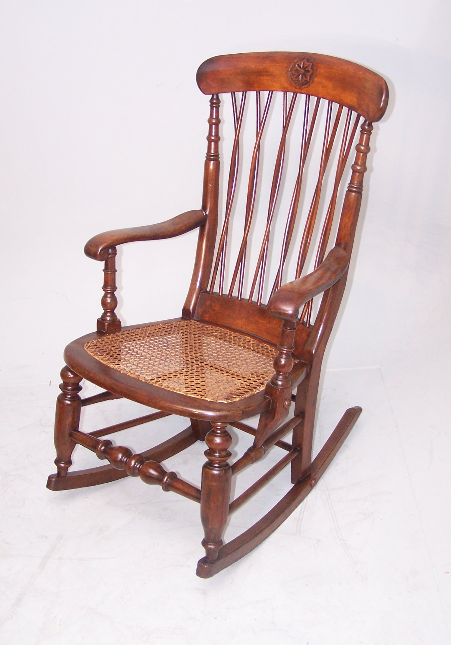 Charmant ... Antique Unusual Rocking Chair Image 4