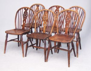 Harlequin Set of Windsor Chairs
