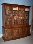 Antique Small Breakfront Bookcase image 1