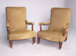 Antique Pair of Library Armchairs image 1