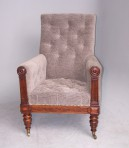 Antique William IV Library Armchair