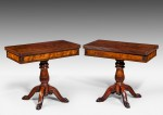 Rare Pair of Card Tables image 1