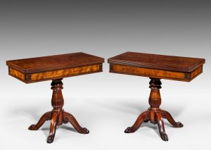 Rare Pair of Card Tables