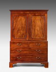 Chippendale Design Linen Press ~ SOLD