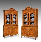 Antique Pair of French Buffet Bookcases image 1