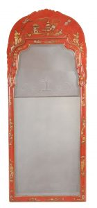 George I Style Japanned Pier Mirror