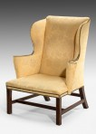 George III Large Wing Armchair