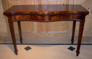 Antique Serpentine Console Table