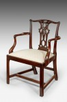 Antique George III Chippendale Armchair