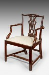 Antique George III Chippendale Armchair image 1