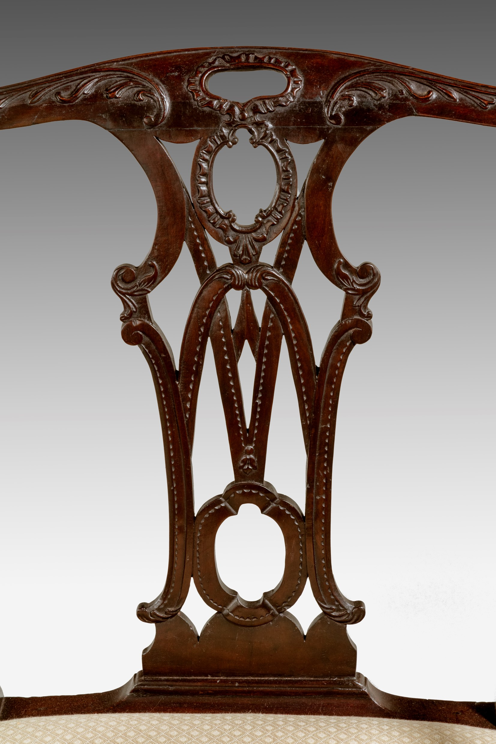 ... Antique George III Chippendale Armchair Image 2
