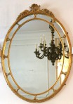 Large Oval Gilt Mirror
