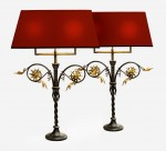 Pair of Wrought Iron Table Lamps image 1