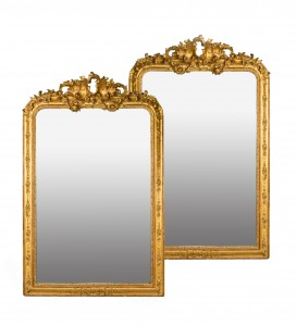 A Pair of Large Gilt Mirrors