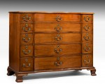 Rare Chippendale Design Linen Chest