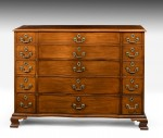 Rare Chippendale Design Linen Chest image 2