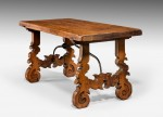 Antique Pair of Low Walnut Tables image 2