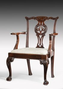 A Superb Example of Chippendale Armchair
