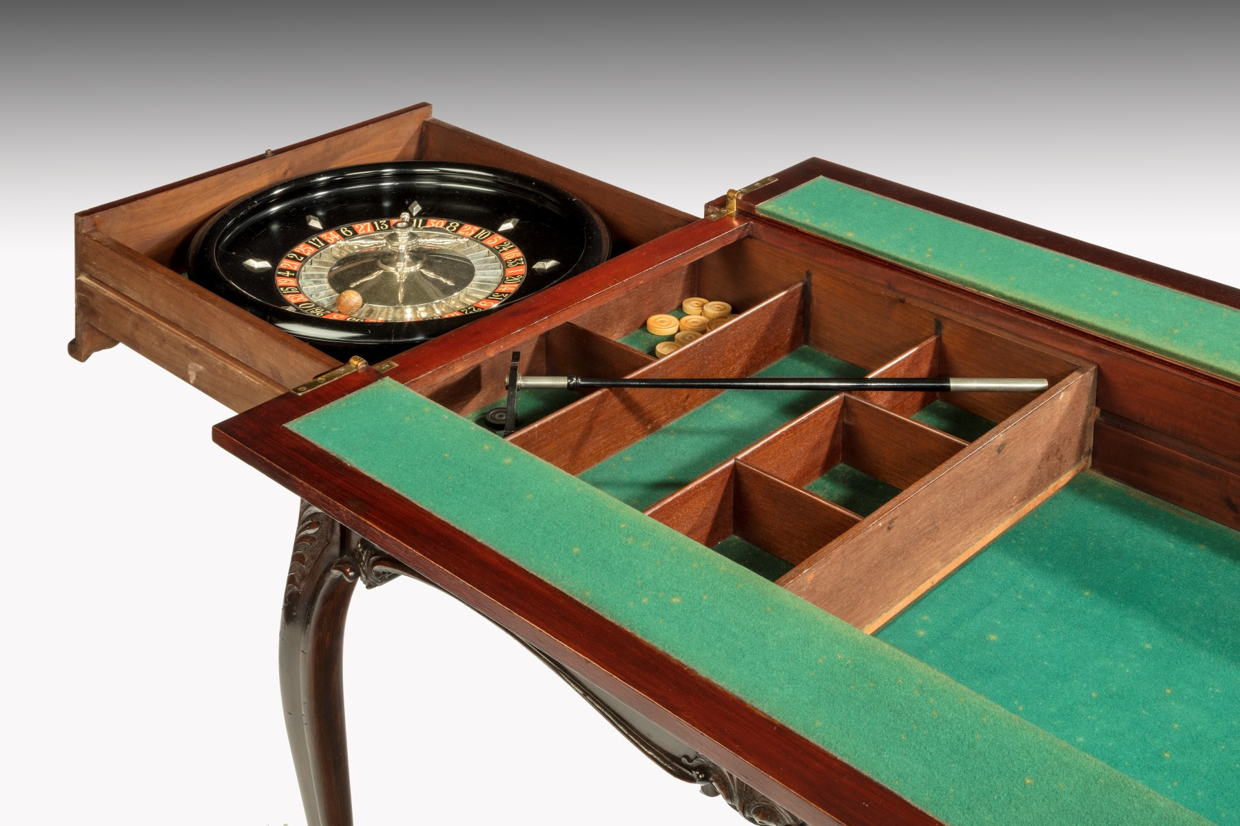 games table with roulette summers davis antiques interiors. Black Bedroom Furniture Sets. Home Design Ideas