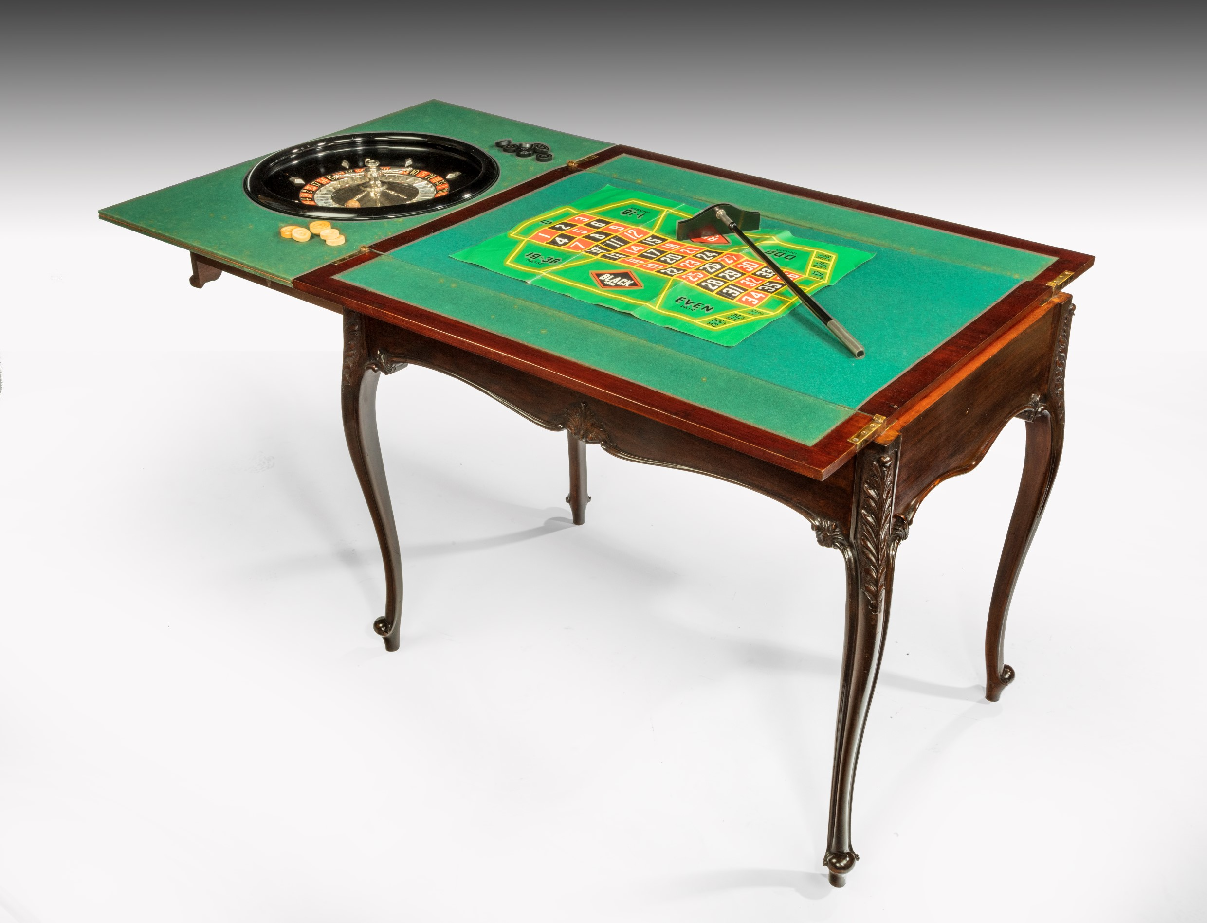 Games Table with Roulette Summers Davis Antiques & Interiors
