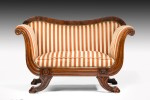Rare Small Regency Sofa Window Seat image 2