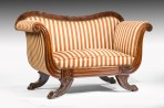 Rare Small Regency Sofa Window Seat