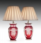 Pair of Cut Glass Lamps image 1