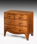 Antique Small Bow Front Chest image 1