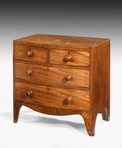Antique Small Bow Front Chest