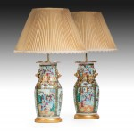 Pair Chinese Vases now Lamps image 1