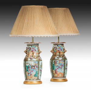 Pair Chinese Vases now Lamps