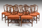 Antique Set Nine Hepplewhite Chairs