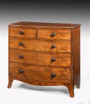 Regency Bow Fronted Chest image 1
