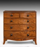 Regency Bow Fronted Chest image 2