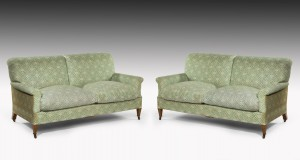 Pair of Howard & Sons Sofas Settees