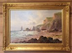 """ A Cornish Coastal View"" by Francis E Jamieson"