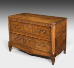 Antique Walnut Commode Chest