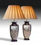 Pair of Japanese Vases, now lamps image 1