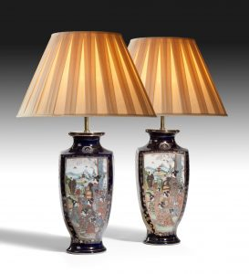 Pair of Japanese Vases, now lamps