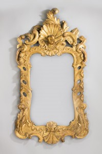Antique Large Gilt Mirror